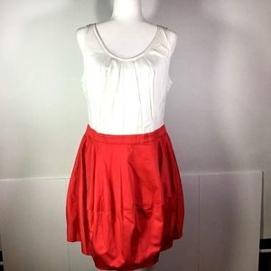 Topshop Red & White Sleeveless Dress 12